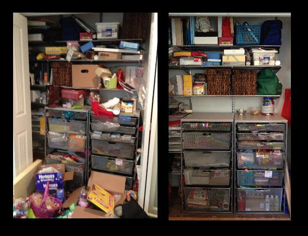 Craft Closet After red